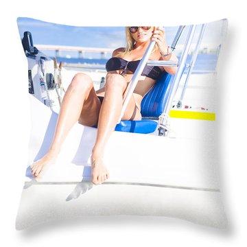 Travel Tour Throw Pillow