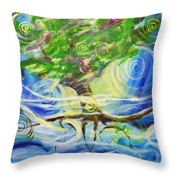Tree Of Creation Throw Pillow