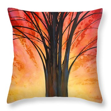 'tree Of Life' Throw Pillow by Michael Lang
