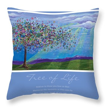 Tree Of Life Throw Pillow by Tanielle Childers