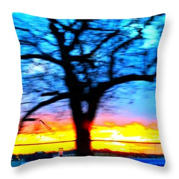 Throw Pillow featuring the photograph Tree by Rose Wang