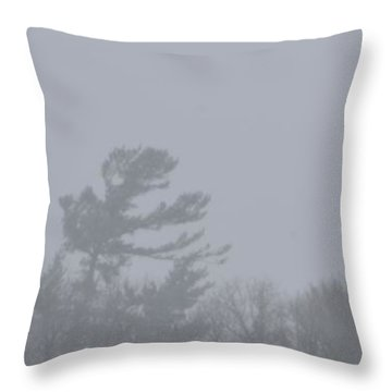 Throw Pillow featuring the photograph Trees On The Hill  by Lyle Crump