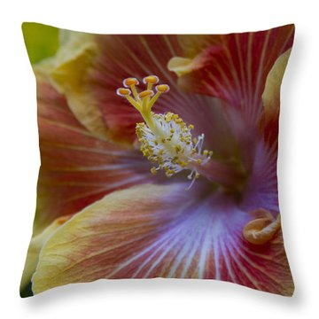 Tropical Hibiscus - Maui Hawaii Throw Pillow by Sharon Mau