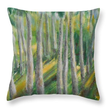 Throw Pillow featuring the painting Tropical by Jane  See