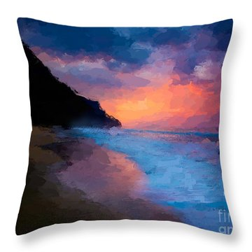 Tropical Paradise Throw Pillow