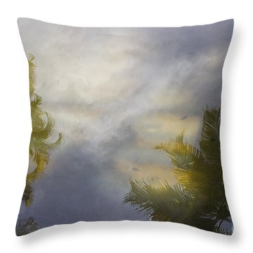 Tropical Reflections Throw Pillow by Anne Rodkin