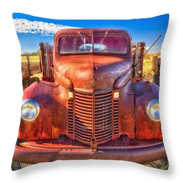 International Rust Throw Pillow