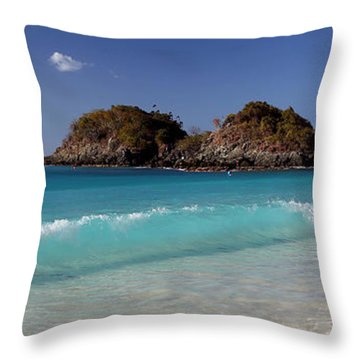 Clearly Trunk Bay Throw Pillow