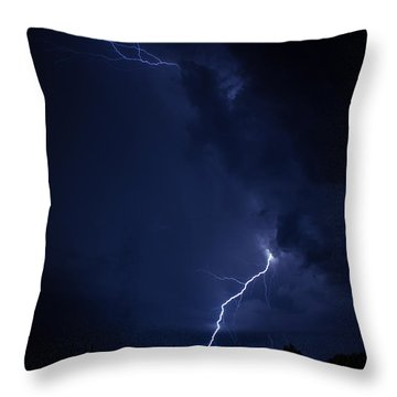 Tuesday Night Lights Throw Pillow