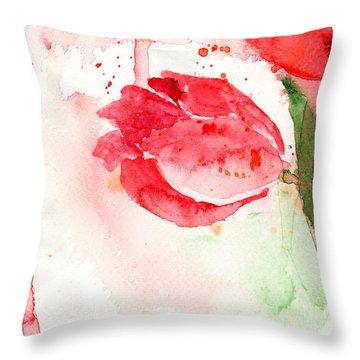 Tulip Flower Throw Pillow