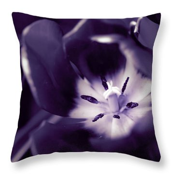 Tulip Porn Throw Pillow by Cathy Donohoue