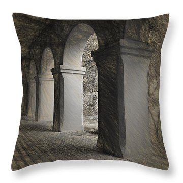 Throw Pillow featuring the photograph Tumacacori Mission  ... by Chuck Caramella