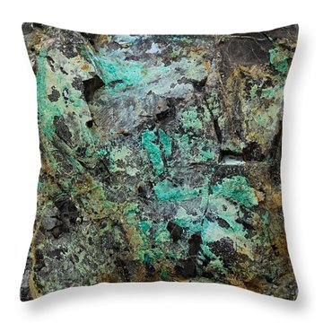Throw Pillow featuring the photograph Turquoise Abstract by Chris Scroggins