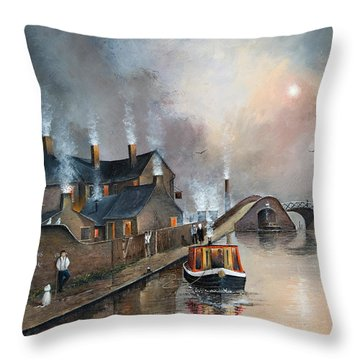 Twilight Departure Throw Pillow