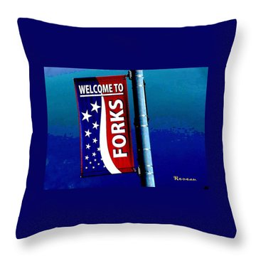 Twilight In Forks Wa 3 Throw Pillow by Sadie Reneau