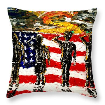 Twilights Last Gleaming Throw Pillow by Mark Moore