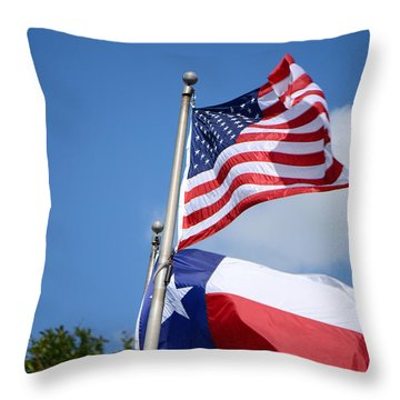 God Has Blessed America Throw Pillow by Connie Fox