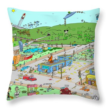 Twoville Throw Pillow