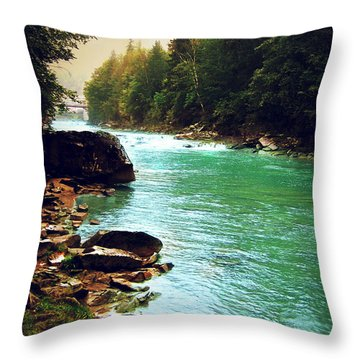 Ukrainian River Throw Pillow