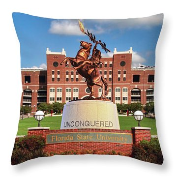 Unconquered Throw Pillow