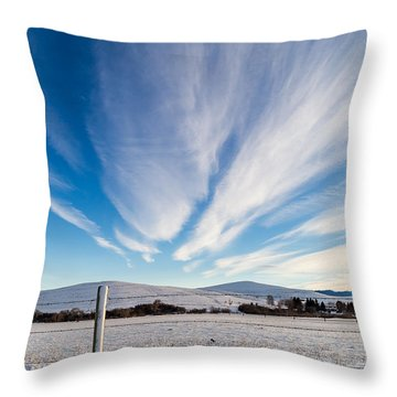 Under Wyoming Skies Throw Pillow
