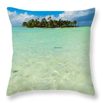 Uninhabited Island In The Pacific Throw Pillow