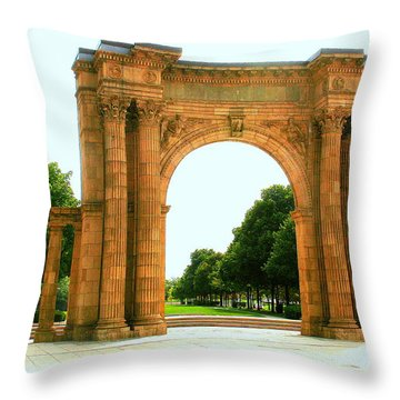 Union Station Arch Throw Pillow by Laurel Talabere