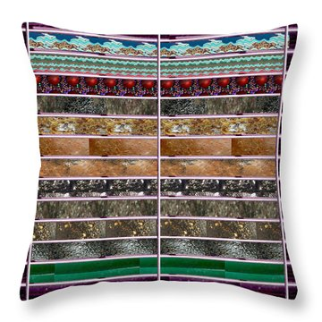 Unique Abstracts Using Multiple Rareearth Stones Crystals Textures And Patterns Throw Pillow by Navin Joshi