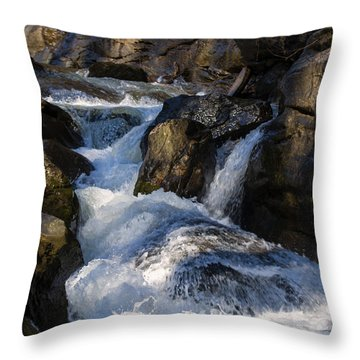 unnamed NC waterfall Throw Pillow