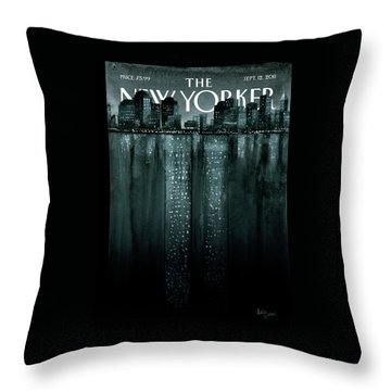 New Yorker September 12th, 2011 Throw Pillow