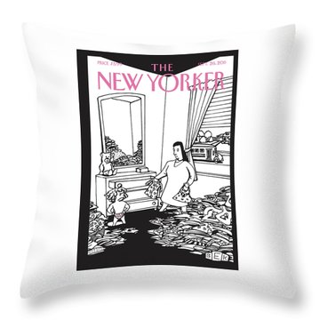 New Yorker September 26th, 2011 Throw Pillow