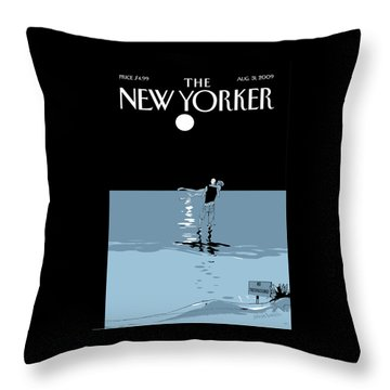 New Yorker August 31st, 2009 Throw Pillow