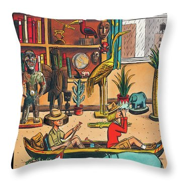 New Yorker April 19th, 2010 Throw Pillow