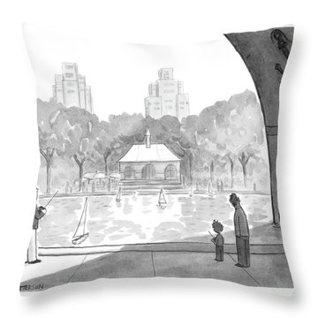 New Yorker April 25th, 2005 Throw Pillow