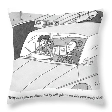 Why Can't You Be Distracted By Cell-phone Use Throw Pillow