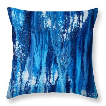 Snow Fall Throw Pillow