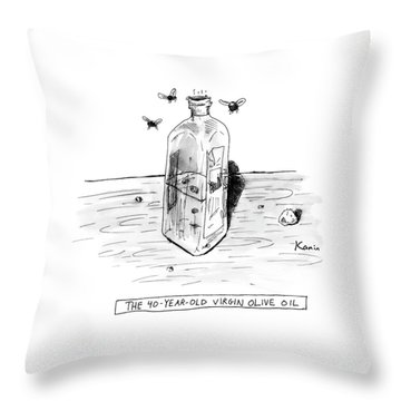 The 40-year-old Virgin Olive Oil Throw Pillow