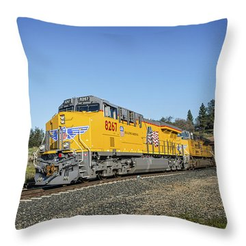 Throw Pillow featuring the photograph Up 8267 by Jim Thompson