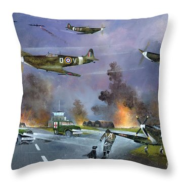 Up For The Chase Throw Pillow