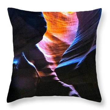 Upper Antelope Canyon Throw Pillow