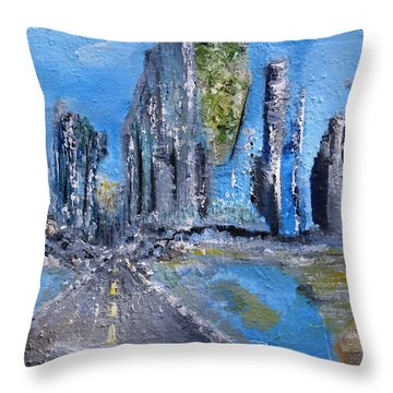 Urban Throw Pillow by Evelina Popilian