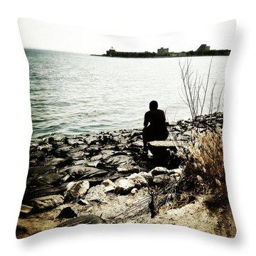 Urban Shore Throw Pillow by Natasha Marco