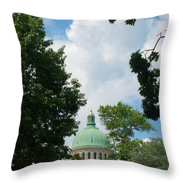 Us Naval Academy Chapel Dome Throw Pillow