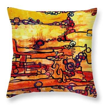 Vacuum Energy Throw Pillow by Regina Valluzzi