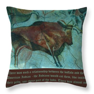 Val Kilmer On The Bison Throw Pillow by Unknown