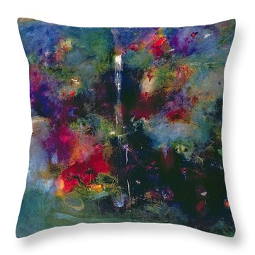 Valley Of The Waterfalls Throw Pillow by Jane Deakin