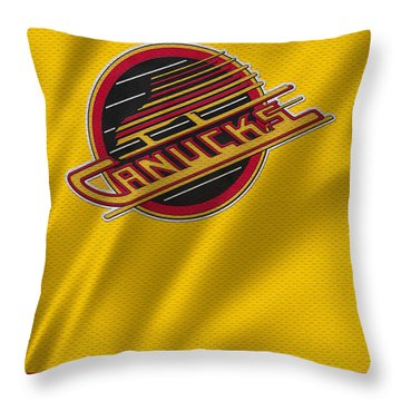 Vancouver Canucks Uniform Throw Pillow