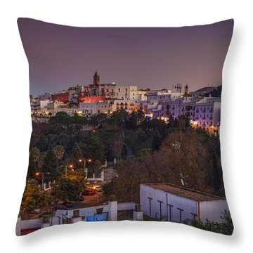 Vejer De La Frontera Panorama Cadiz Spain Throw Pillow