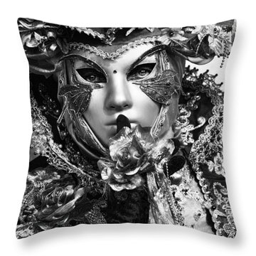 Venetian Mask Throw Pillow