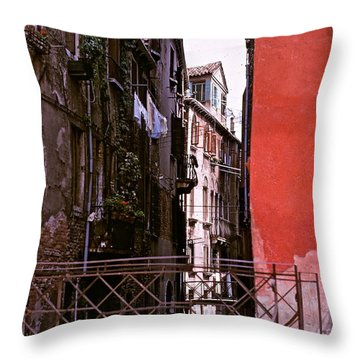 Throw Pillow featuring the photograph Venice by Ira Shander